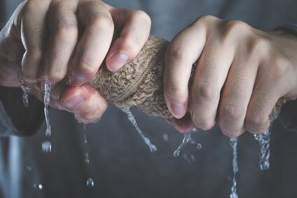 絞ったタオル