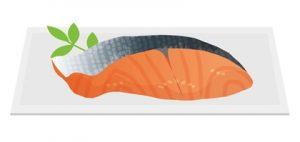 鮭の切り身 アスタキサンチン