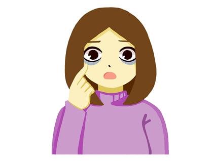 目のクマ 女性
